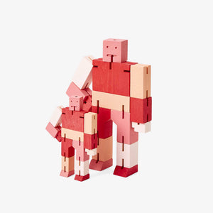 CUBEBOT® Capsule Collection | 3D PUZZLE ROBOTER | Rot Multi | David Weeks | Areaware - Charles & Marie