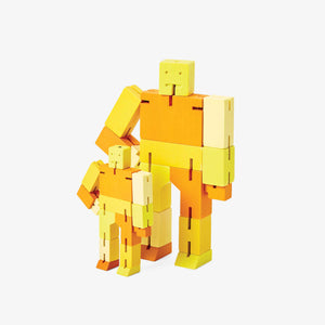 CUBEBOT® Capsule Collection | 3D PUZZLE ROBOTER | Gelb Multi | David Weeks | Areaware