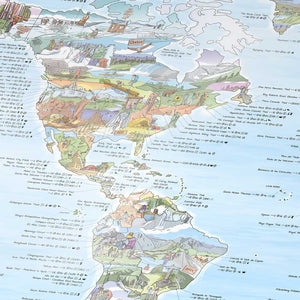 HIKING MAP | Illustrierte WANDER WELTKARTE | Awesome Maps