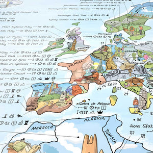 HIKING MAP | Illustrierte WANDER WELTKARTE | Awesome Maps - Charles & Marie