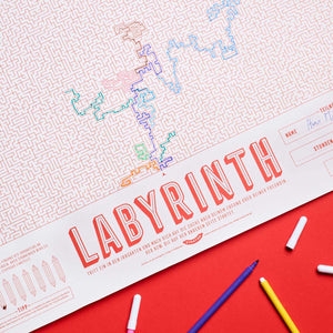 LABYRINTH | XL Spiel & Rätsel POSTER | 65x100cm | Stratier - Charles & Marie