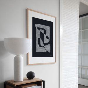 BLACK | LINEARE ART PRINT | POSTER | 50x70 cm | Atelier CPH | Connox Collection - Charles & Marie