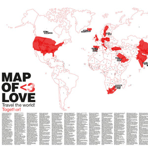 Map of Love | WELTKARTE für Liebende | Awesome Maps