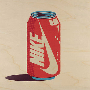 NIKE? | BRAND'S MIX POSTER aus Holz | 30x30 cm | Woodhi - Charles & Marie