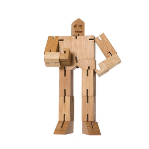 CUBEBOT® JULIEN Small | NATUR | 3D PUZZLE ROBOTER | David Weeks | Areaware