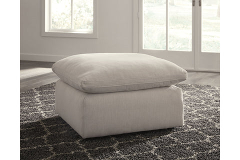 Savesto Ivory Oversized Accent Ottoman