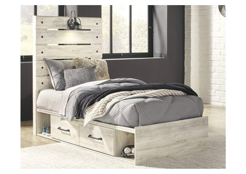 Cambeck Twin Two Side Storage Bed