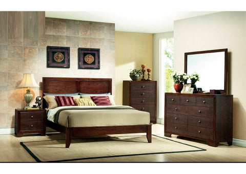 Brown Cherry Full Bed