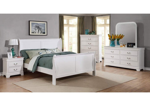 White King Sleigh Bed