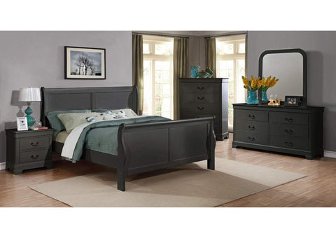 Gray Full Sleigh Bed