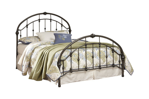 Bronze Finish Metal Queen Bed