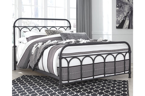 Nashburg Black Queen Metal Bed