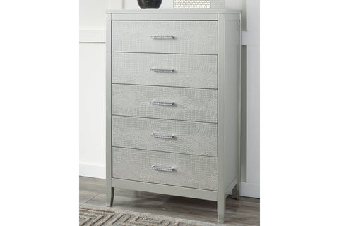 Olivet Silver 5 Drawer Chest