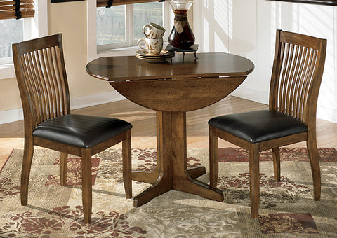 Stuman Round Drop Leaf Table w/2 Side Chairs