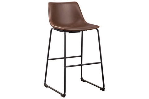 Centiar Brown Pub Height Bar Stool (Set of 2)