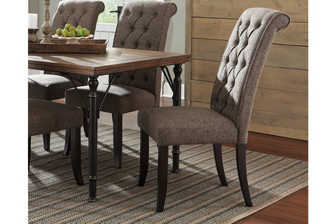 Tripton Medium Brown Dining Upholstered Side Chair (Set of 2)