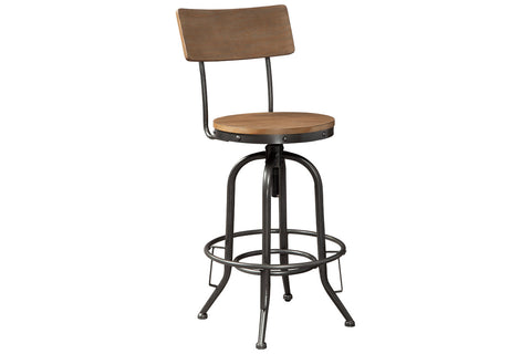 Pinnadel Light Brown Pub Height Bar Stool (Set of 2)