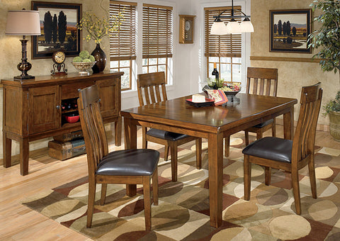 Ralene Rectangular Extension Table w/4 Upholstered Side Chairs