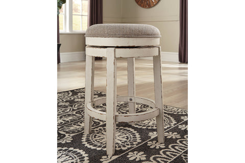 Realyn Chipped White Bar Stool