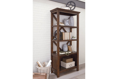 Baldridge Rustic Brown 75 Bookcase