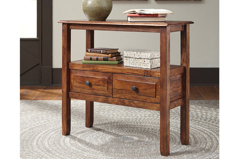 Abbonto Warm Brown Accent Table