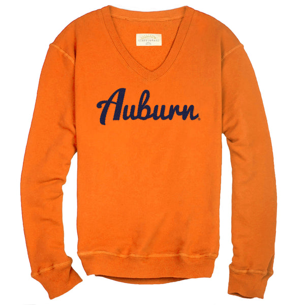 Auburn Hearty V Neck Sweatshirt