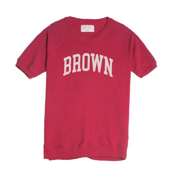Brown Dottie Short Sleeve Pullover