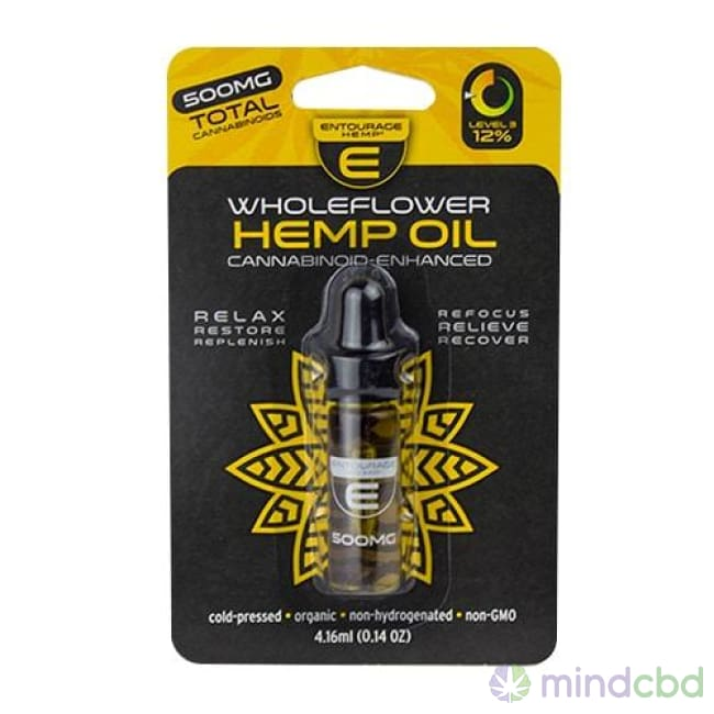Entourage Wholeflower Hemp Oil 4.16Ml (500-1000Mg Cbd) - Cbd Oil
