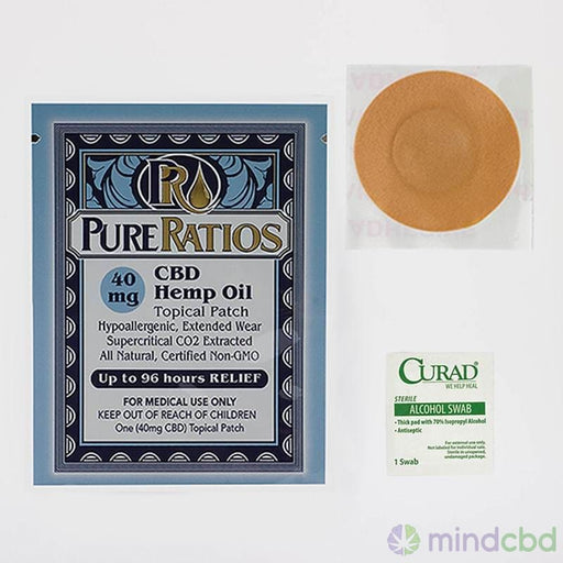 Pure Ratios Hemp Patch (40Mg Cbd) Up To 96 Hour Usage - Patch