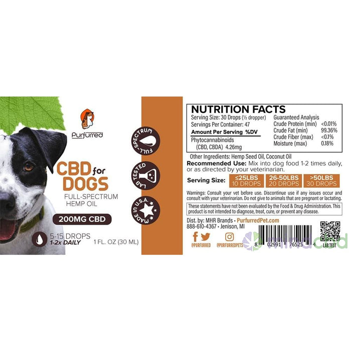 Purfurred - Cbd For Dogs - Pet