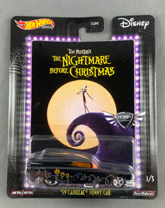59 Cadillac Funny Car THE NIGHTMARE BEFORE CHRISTMAS Disney Hot Wheels POP Culture #3