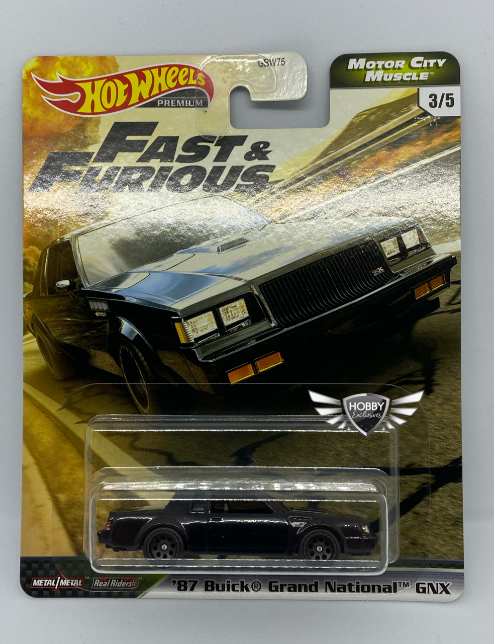 87 Buick Grand National GNX FAST & FURIOUS Motor City Muscle Hot Wheels #3