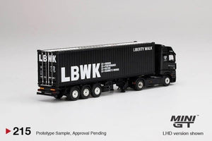 Mini GT 1:64 Mercedes-Benz Actros With 40' Dry Containers LBWK (Preorder)