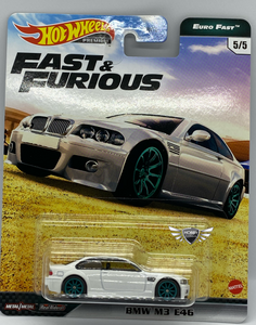 BMW M3 E46 FAST & FURIOUS EURO FAST #5 Hot Wheels Premium