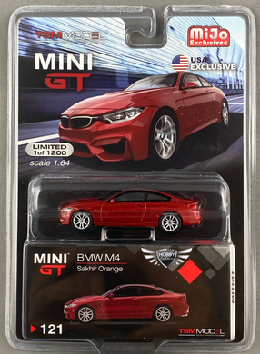 BMW M4 Sakhir Orange MiJo Exclusive #121 Mini GT