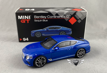 Load image into Gallery viewer, Bentley Continental GT Sequin Blue #94 MiJo Exclusives MINI GT