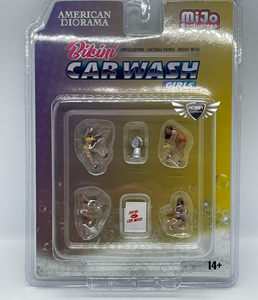 Bikini Car Wash MiJo Exclusives American Diorama 1:64 Scale