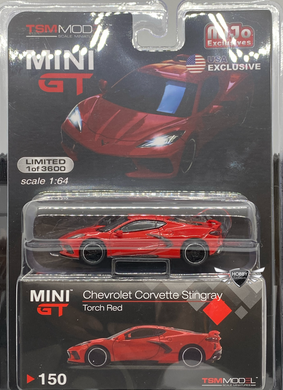 Chevrolet Corvette Stingray Torch Red #150 MiJo Exclusives Mini GT