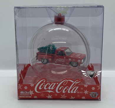 Coca Cola Ornament 1974 Chevrolet Stepside With Tree MiJo Exclusives M2