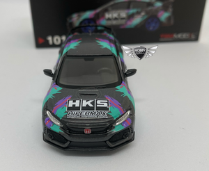 Honda Civic Type R HKS Time Attack MiJo Exclusives MINI GT #101