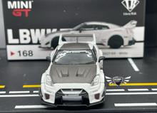Load image into Gallery viewer, LB Silhouette Works GT Nissan 35GT-RR #168 MiJo Exclusives MINI GT