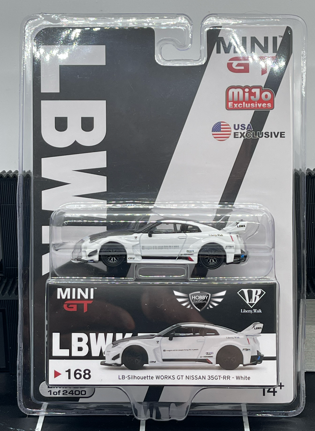LB Silhouette Works GT Nissan 35GT-RR #168 MiJo Exclusives MINI GT