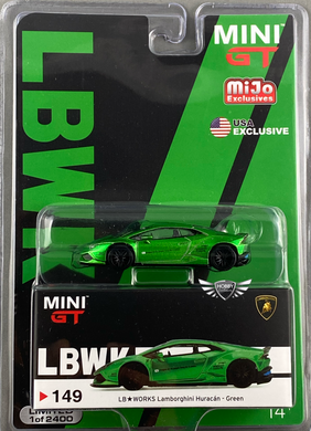 LB Works Lamborghini Huracan Green MiJo Exclusive Mini GT #149