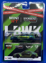 Load image into Gallery viewer, LB Works Nissan GT-R Magic Green Tarmac/ Mini GT #145
