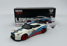 Load image into Gallery viewer, LB Works Nissan GT-R Martini Racing Mini GT MiJo Exclusives #133