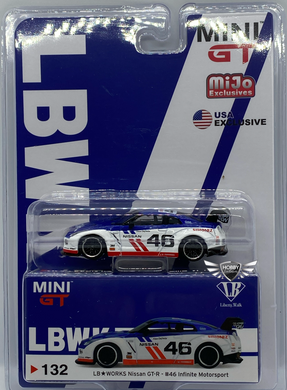 LB Works Nissan GT-R #46 Infinite Motorsport #132 MiJo Exclusives Mini GT