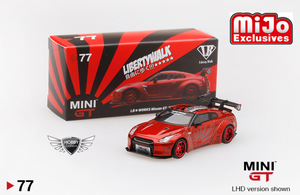 LB Works Nissan GT-R (R35) Candy Red MiJo Exclusives MINI GT #77