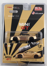 Load image into Gallery viewer, LB Works Nissan GT-R Satin Gold MiJo Exclusives Mini GT #30