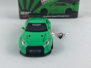 Nissan GT-R R35 Green LBW Liberty Works Hobbiestock Exclusives Mini GT #67