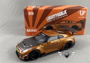 LB Works Nissan GT-R Metallic Brown Indonesia Diecast Expo MINI GT #69